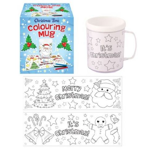 Christmas Time Colouring Mug - Colour Your Own Arts & Crafts